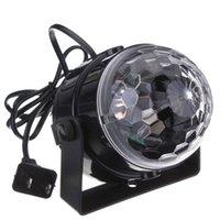 Mini RGB LED Projetor DJ Iluminação Light Dance Disco Som Activado por Voz-ativado Cristal Magic Ball Ball Party Christmas Stray Lights Mostrar