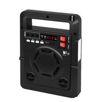 Radio Haute Qualité FM Stéréo Digital Music Player Haut-parleur avec récepteur de lampe LED Internet