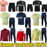 2020 2021 Gunner Tracksuits Ars Ars Training Giacche Pantaloni maniche lunghe Giacche da esterno Gunner Pre Match Tracksuits Sport Esecuzione di usura 20/21