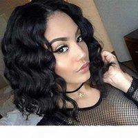 Mme Cassie Court Cheveux Humains Pour Femme Noire 100% Brésilien Vierge Vierge Dentelle Perruques Front avec Cheveux Baby-Courtiers Courtiers Bob Bob Full Dentelle