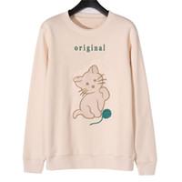 Mode Stylist Womens Sweatshirt Top Qualität Super weiche Frühling Winter Sweatshirts Männer Frauen Pullover Langarm Hip Hop Katze Sweat Shirt