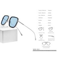 Fonex Pure Titanium Acetato Acetato Occhiali da sole polarizzati Uomo Retro Tony Stark Occhiali da sole New Vintage Edith Occhiali da sole per le donne 8512 Y1207