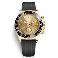 Casual Mode Ceramic Lünette Black Uhren Mens Mechanische Automatische Bewegung Golduhr Sport Designer Gummi Strap Armbanduhren Reloj de Lujo Para Hombre