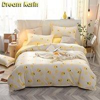 Dream Carin Fruit Pattern Bedging Set для детского кратким стиль одеяла одеяла чехлы с наволочками 2 / 3шт домашний текстиль1