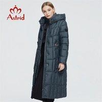 Astrid Yeni Kış kadın Ceket Kadınlar Uzun Sıcak Parka Ekose Moda Kalın Ceket Kapüşonlu Biyo-Aşağı Kadın Giyim Tasarım 9546 201217