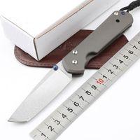 1 ADET Yeni Yüksek End CR Bıçaklar Büyük Katlanır Bıçak Bıçak D2 Tanto Noktası Taş Yıkama Bıçak CNC TC4 Titanyum Alaşım Kolu