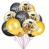 라텍스 기념일 풍선 10 16 16 30 50 번호 +5 색종이 풍선 15pcs / 롯트 생일 파티 웨딩 약혼 장식 장식 G12203