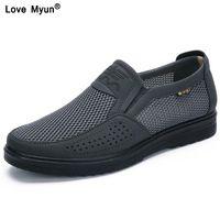 Männer Casual Schuhe Männer Sommer Stil Mesh Wohnungen für Männer Loafer Creepers Casual High-End-Schuhe sehr komfortabel