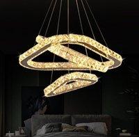 Luxury Chrome Led K9 Crystal Chandelier Lighting Modern Pendant Ceiling Fixtures Lamp For Living Room Suspension Lamp Home Deco