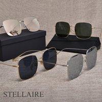 Óculos de sol italiano mulheres óculos de sol polarizado quadro quadrado metal alta qualidade grande óculos stellaire