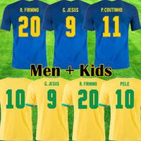 BRAZIL Brasilien Fußball Trikot Copa Amerika 2019 2020 brasil Brasilien COUTINHO FIRMINO NEYMAR JR Trikot Fußball Trikot