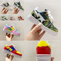 Hot Shoe Camo Kid Concepts Fornire Exclusive BAPED STAS X AFORCE 1 Calzature One Trainer Bambini Sport Shoes Boy Girls 1 Sneakers