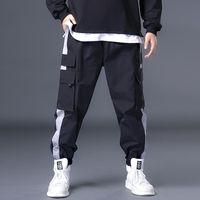 Pantaloni cargo di grandi dimensioni Uomo grasso Multi Pocket Elastic Wai Big Size 6 7XL Color cuciture Abiti Primavera Autunno Casual Pants Grande pancia