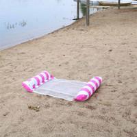 الأزياء العائمة السرير نفخ شبكة تعويم الطوافة أضعاف المياه أرجوحة صالة حمام السباحة شاطئ لعب أدوات شعبية 12GD D2