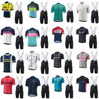 새로운 남성 Morvelo 사이클링 저지 정장 편안한 MTB 자전거 셔츠와 턱받이 반바지 세트 여름 퀵 드라이 사이클링 자전거 Sportswear C2103