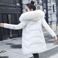 Nuova giacca invernale donna parka con cappuccio con cappuccio in cotone imbottito parka femmina giacca cappotto lungo donna plus size 7xl sottile outwear caldo 201199