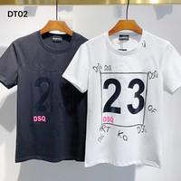 DSQ PHANTOM TURTLE 2021SS New Mens Designer T shirt Paris fashion Tshirts Summer DSQ Pattern T-shirt Male Top Quality 100% Cotton Top 1019