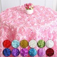 Masa Örtüsü Romantik Petal Masa Örtüsü 3D Gül Çiçek Düğün DIY Dekorasyon Parti Arkaplan Ev Ziyafet Dekor