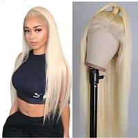 613 Natural Hairline HeightGear Parrucca di pizzo Parrucca diritti 100% Real Capelli Parrucca del pizzo Parrucca dei capelli umani