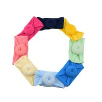Nylon Wide Baby Headbands 16cm Soft Redondo Bola Donut Forma Accesorios para el cabello Kids Silk Fashion Elastic Hairs Banda 2 8HF G2