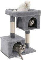 تسلق شجرة للقطط، منصة كبيرة مع اثنين من الثقوب القط، الصوف، ارتفاع 80CM