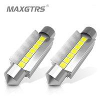 긴급 조명 2X C5W LED Festoon Bulb Canbus 오류 무료 400lm 6000K 31 / 36 / 39 / 41mm 돔지도 도어 번호판 줄기 세면대 미러 빛 X