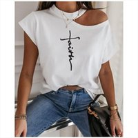 Girls Tshirt Off Shoulder Short Sleeve T shirts White Print ...
