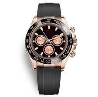 Designer classico Designer orologi Automatic Rubber Strap Movimento meccanico Orologio Orologio da Uomo Orologio da polso Casual Montre Homme de Luxe