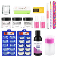 Kit per nail art kit coscelia kit acrilico set rosa trasparente in polvere bianca con gel liquido manicure per strumenti di estensione