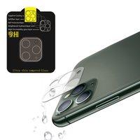 전화 렌즈 아이폰 11 프로 최대 3D 투명한 전체 커버 카메라 백 유리 필름 소매 패키지 없음