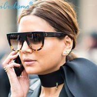 Sonnenbrille Assic Frauen Marke Designer Celebrity Flat Top Shades Super Star Kim Kardashian Sonnenbrille Weibliche Schatten Eyewear1