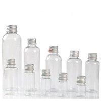Strumento trucco vuoto 5ml 8ml 10ml 20ml 20ml Pict Plastic Plastic Bottle Bottle con tappo in alluminio Pot cosmetico Barattolo ricaricabile 200 PZ / Lotgood QualityGoo