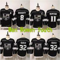 2021 Damen Jugend Los Angeles Kings Damen Hockey Jerseys 8 Drew Doughty 11 Anze Kopitar 32 Jonathan Quick Black Kids Herren Heft Hemden