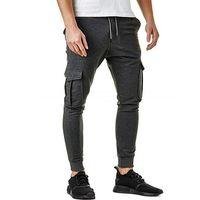 Мужские штаны 2021 осень зима повседневные плотные твердые многокомнатные спортивные спортивные спортивные штаны одежда
