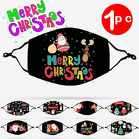 Kids Christmas Face mask Printing Children Mask Cotton Washable Cartoon Pattern Cloth Mask 8 styles HH9-3639
