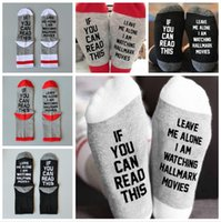 Letter Printed Christmas Socks If You Can Read This Men Wome...