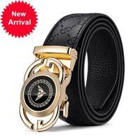 Williampolo cuir brand de marque de la ceinture de luxe authentique pour hommes Boucle automatique mâle Boucle automatique