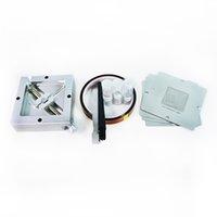 90mm Reball Fikstür Reballing Kiti 4 adet BGA Şablonlar PS4 Lehim Topları için ESD Cımbız Fırça BGA Rework Araçları