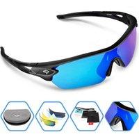 Atacado-2020 Nova marca Esportes ao ar livre Óculos de sol polarizados Moda óculos de esporte para escalar Corrida de pesca Golfe Eyewear 100% UV4001