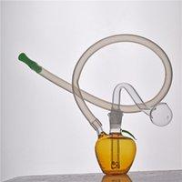 미니 DAB 조작 재활용 미니 유리 봉 10mm 조인트 흡연 물 파이프 버블 러 물 담뱃대 10mm 남성 유리 오일 버너 파이프 및 실리콘 튜브