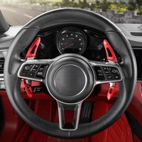 2pcs 원래 새로운 알루미늄 합금 자동차 스티어링 휠 교대 패들 시프터 Porsche Cayenne 911 Panamera Macan 718 2004-2020