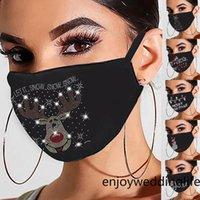 Hızlı Teslimat Máscara Masque Noel Kadınlar Yüz Maskeleri Yeniden kullanılabilir Açık Nefes Moda Pamuk Windproof Kafa FY9276 Maske Matkap