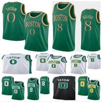 2020 2021 Yeni Erkekler Jayson 0 Tatum Kemba 8 Walker Basketbol Forması