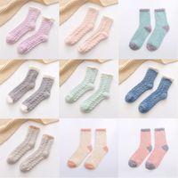 Mercan Kadife Lady Çorap Sonbahar Kış Sıcak Çorap Kalınlaşma Kabarık Orta Tüp Çorap Yetişkin Kadınlar Kız Ev 1 93MY G2