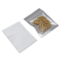 Zip Lock Aluminum Foil Bag White Mylar Foil Storage Pouch Re...