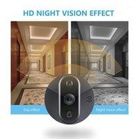 """Kameralar HQCam Tuya Kapı Zili Peephole Kapı Kamera Wifi Video Interkom 4.3 """"LCD Hareket Algılama Video Göz Görüntüleyici Kablosuz Ring1"""