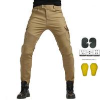 Calça jeans de motocicleta homens calças motocross calças motocicletas motocross equitação correndo motocicleta motocicleta de sujeira calças de cálculos protetora1
