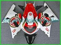 Пользовательский красный белый комплект обтекателя AE03 для Suzuki GSXR 600 750 K1 2001 2002 2003 GSXR600 GSXR750 01 02 03 Комплект мотоциклов