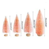 Petite arbre de Noël artificiel floquagé Snow Globe Décor mignon mini givre q9qf1