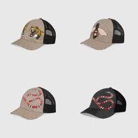 Classic Top Best Quality Snake Tiger Bee Cat Lienzo con los hombres gorra de béisbol con la caja de la bolsa de polvo de la moda para las mujeres con sombrero de sol sombrero 426887